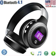 Foldable Wireless Bluetooth Headphones Stereo Earphones Bass Headset w/ Mic FM
