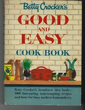 1954 Betty Crocker's Good + Easy Cook Book Recipes First Ed. 8th Illustrated HC