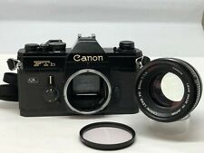 【As-is】Canon FTb QL Black w/ Canon Lens FD S.s.C. 50mm F1.4 from JAPAN