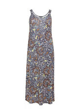 Evans Navy Blue Paisley Print  Maxi Dress - BNWT - Plus Size 26/28
