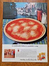 1964 Chef Boy Ar Dee Pizza Ad Venice Italy As Traditionally Italian Gondolier's
