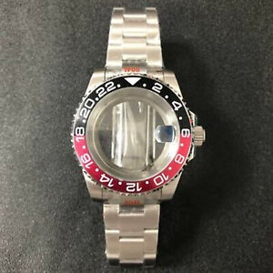 40MM Sapphire Glass Watch Case Band Bottom Case for NH35/NH36 Watch Movement TOL
