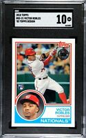 2018 Topps #83AVR Victor Robles Rookie SGC 10 GEM