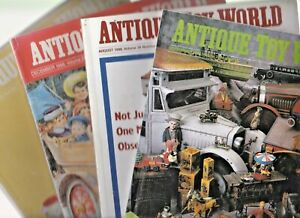 4 x ANTIQUE TOY WORLD Magazines: July, August, September & December 1998