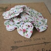 100 VINTAGE RUSTIC FLORAL HEART SHAPED PAPER WEDDING TABLE CONFETTI DECORATIONS