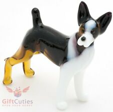 Art Blown Glass Figurine of the Rat Terrier dog