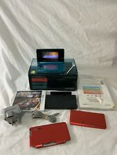 Nintendo 3DS Handheld Gaming Console System Boxed - Aqua Blue With Ridge Racer
