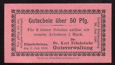 Ellguth Steinau Rittergut, Ligota Scinawska,Oberschlesien Notgeld 50 Pf tadellos
