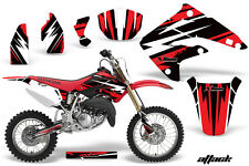 Dirt Bike Graphics Kit MX Decal Wrap For Honda CR85 CR 85 2003-2007 ATTACK RED
