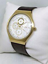 f4423b13ca285 Skagen Masculino Grenen Inox Steel Case Slim Relógio Analógico SKW6144  Marrom dourado