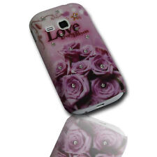 Design Strass No.5 Back Cover Samsung S6310 Galaxy Young + Displayschutzfolie