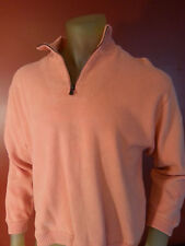 Tommy Bahama 1/4 Zip Pullover Sweater mens xsmall orange 98% coton 2%spandex