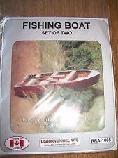 Osborn Model Kits HO Scale Fishing Boat 2 pack RRA-1005 Bob The Train Guy