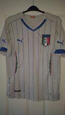 Mens Football Shirt - Italy - National Team - White - Puma - Away 2014-2015 - M