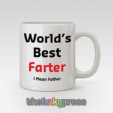 World's Best furzenden Lustiges Motto Becher des Vaters Day Geschenk