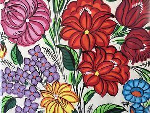 """⭐Kalocsai Flower Hand Painting 12x16"""" Original Kalocsa Art Hungary 1985 Original"""