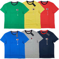 Tommy Hilfiger BIG FLAG Men's Crew Neck Tee T-Shirt Short Sleeve Solid Shirt