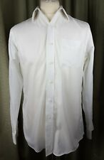 "Lauren Ralph Lauren Fitted Non Iron White Cotton Shirt 15.5"" 39cm C40"""