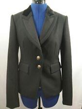 TALULA Aritzia Womens Black Thick Wool Blazer Jacket Velvet Collar Sz 4 S