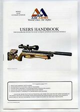 AIR ARMS S510F Ultimate Sporter Rifle, Standard models users Handbook