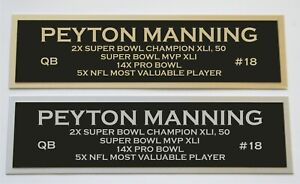 Peyton Manning nameplate for signed jersey football helmet or photo