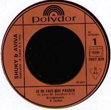 SHUKY & AVIVA - Je Ne Fais Que Passer - Polydor