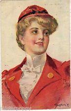 DONADINI Glamour Girl Hat Ragazza Donnina Cappello PC Circa 1910