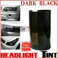 400mm x 600mm DARK BLACK TINT FILM CAR VAN VEHICLE HEADLAMP FOG TAIL LIGHT WRAP