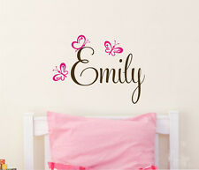 Removable Butterflies Custom Baby's Name Vinyl Wall Paper Decal Art Sticker Q690