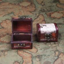 Small Wooden Decorative Retro Trinket Boxes Storage Jewelry Box Treasure Gift