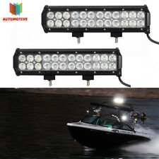 PAIR 12inch Combo LED Work Light Bar Off Road Boat Fog Driving Lamp ATV Pickup