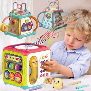 7 in1 Baby Toddler Musical Activity Cube Play Centre Early Educational Games Toy
