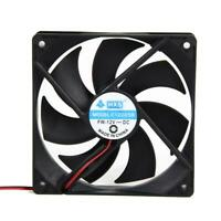 2pcs Silent DC 12V 0.30A 4Pin DC Brushless PC Computer Case Cooler Cooling Fan