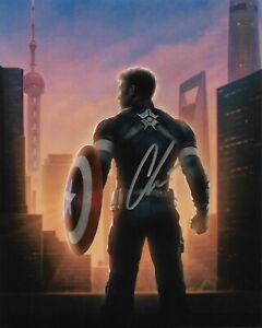 """CHRIS EVANS """"Captain America"""" Autographed 8 x 10 Signed Photo COA"""