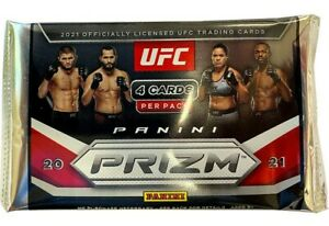 2021 UFC Prizm Debut Edition 1 PACK From Blaster Box 1 Sealed PACK 4 Cards