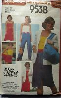 Simplicity sewing pattern no. 9538 Ladies casual wardrobe size 10