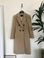 Hobbs Camel Hair Double Breasted Nude Classic Coat Uk 8 Us 6 Eur 36 Vgc
