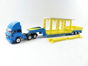 SIKU 1:55 4019 Super Serie IVECO Tieflader 1:55 blau mit Waschanlage Upat #3543