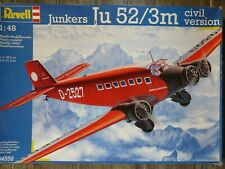 Maquette Avion REVELL 1/48 Ref 04558 Junkers Ju 52/3m Civil Version