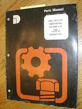 Dresser 712 714 Parts Catalog Manual Book Tandem Roller Asphalt Compactor Guide