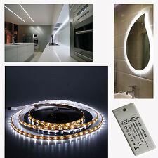 2m LED Tira de Luz del Gabinete Blanco Frío 9.6w Impermeable y 12w 2A 12v LED Driver