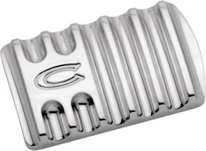 Covingtons Chrome Flinned Brake Pedal Pad 85-19 Harley Touring Softail FLHX FLHR