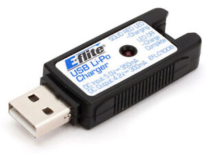 E-flite 1S USB LiPo Charger 350mA BLADE PARKZONE Ember 2 EFLC1008