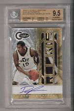 DERRICK FAVORS 10/11 Certified auto patch rookie #165 SN #03/25 BGS 9.5/10