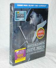 NEW! Sherlock Holmes: A Game of Shadows (Blu-ray Disc, 2012) STEELBOOK EDITION