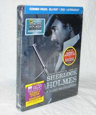 NEW! Sherlock Holmes: A Game of Shadows (Blu-ray Disc, 2012) STEELBOOK EDITION