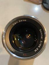 Super Rare Carl Zeiss Sonnar T 85mm F2 ZM Lens Leica M Mount German Made