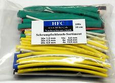 Schrumpfschlauch-Set im Sortimentsbeutel 100-teilig, farbig -  Ø 1,5 - 13 mm