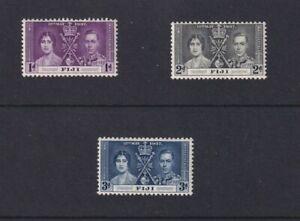 Fiji - 1937 - King George VI Coronation Set of 3 - MLH 2103