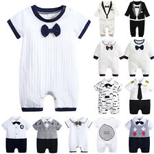 For Newborn Toddler Baby Boy Gentleman Clothes Romper Jumpsuit Bodysuit Outfits
